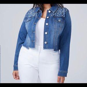 Lane Bryant Plus Size 24 Denim Blue Jean Jacket